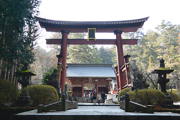 北口本宮冨士浅間神社の日本最古の木造鳥居