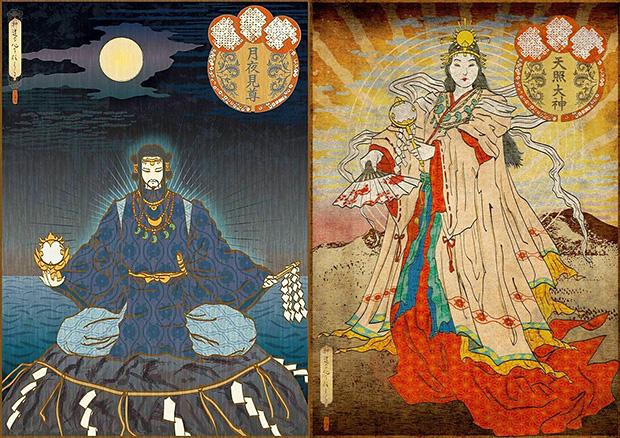 月読尊と天照大神