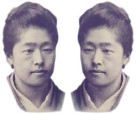 津田梅子、左右反対の写真