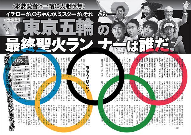 東京五輪の最終聖火ランナーは誰だ!
