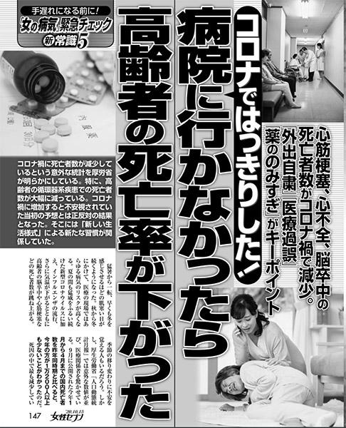週刊『女性セブン(10.1)』